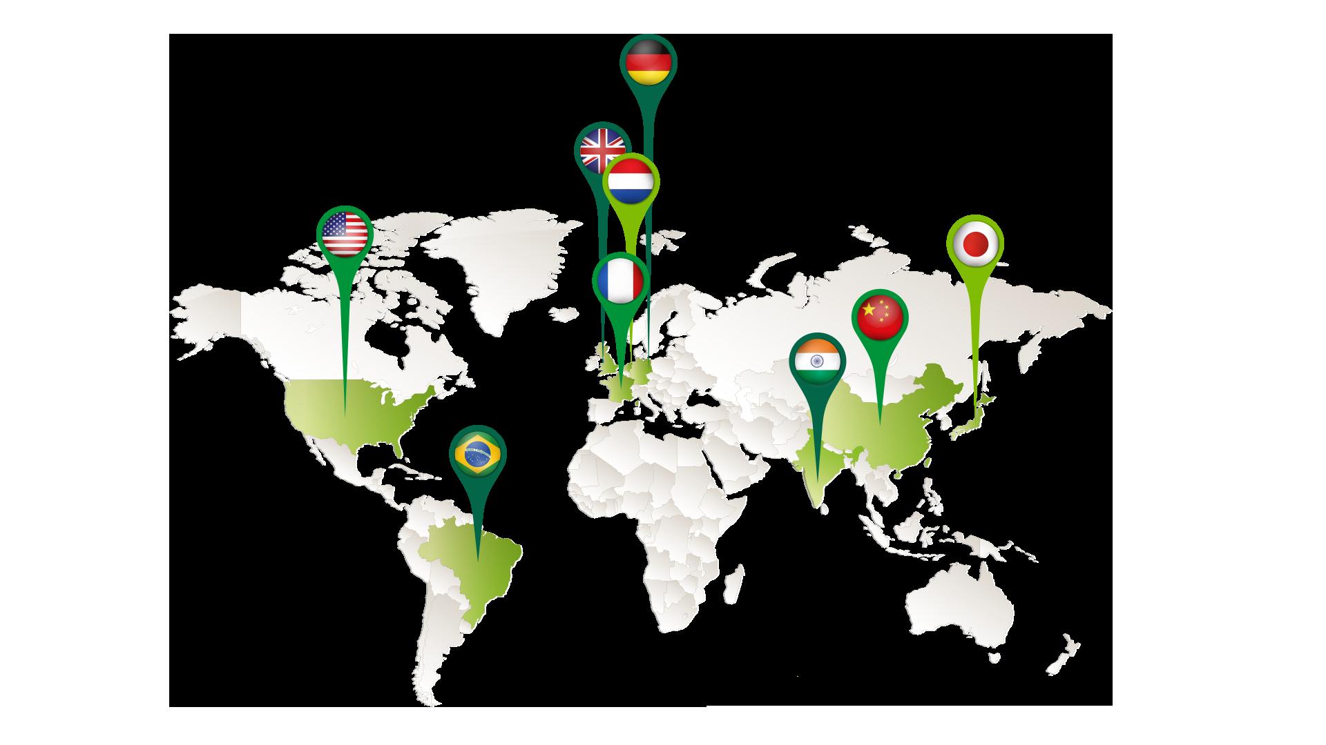 Países onde a GLP está presente